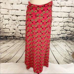 💸💸💸Lularoe Pink Patterned Maxi Skirt, SMNWT
